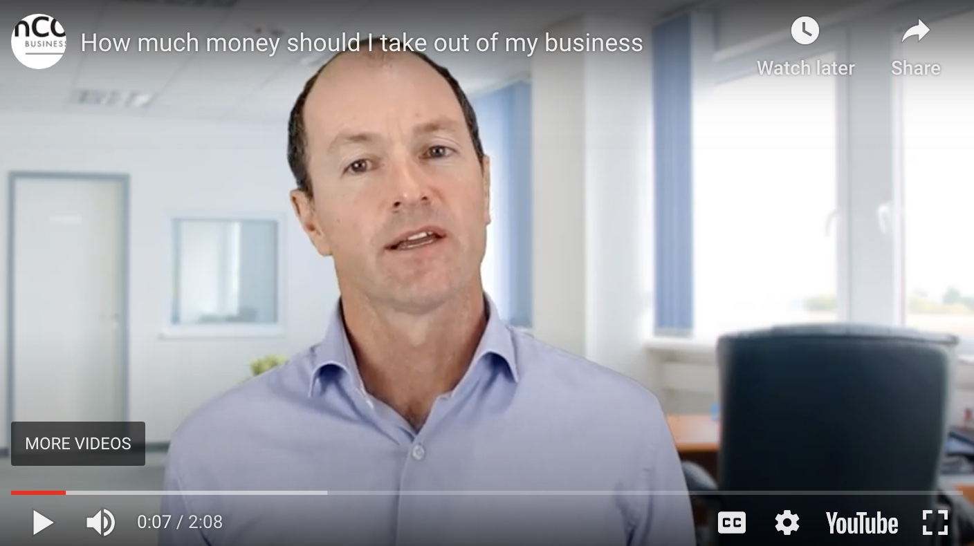 taking money out of the business